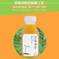 原本果子NFC鲜榨100%黄桃纯果汁 低温300ml*24瓶/件