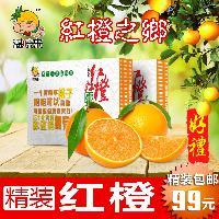 廉江 農墾 現摘純天然新鮮橙子 15個裝 包甜 正宗紅橙禮盒裝