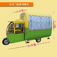 厂家直销 多功能电动三轮小吃车 早餐车
