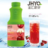 金汇源泉1kg樱桃蔓越莓果汁浓浆果味速溶果汁浆奶茶餐饮冲调饮料