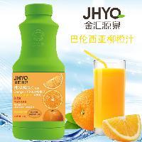 金汇源泉巴伦西亚鲜橙汁1L果味浓缩饮料鲜橙果汁浓浆冲调饮料橙汁
