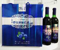 伊春特产隆广川野生蓝莓酒 野生蓝莓红酒(木糖醇)750ml