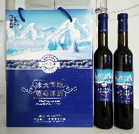 伊春特产松韵谷野生蓝莓酒 冰天雪地野生蓝莓冰酒375ml