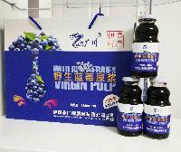 伊春特产隆广川蓝莓果汁野生蓝莓原浆(木糖醇)248ml