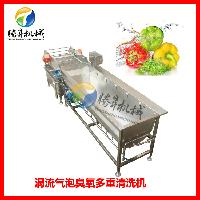 广东气泡多重洗菜机 菜心清洗除杂机 解毒机