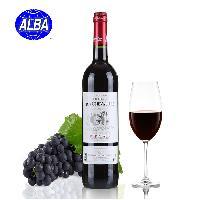 【ALBA】骑士红葡萄酒2012 750ml 法国原装原瓶进口红酒 波尔多