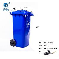 厂家直销 100L HDPE塑料环卫垃圾桶 全新料小区专用分类垃圾桶