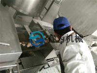 新一代全自动隧道式鸡排上粉裹面粉机