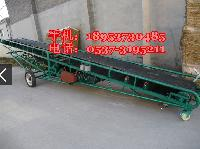 带式防滑输送机 装卸货物传送机 移动式爬坡输送机