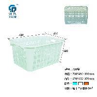 重庆哪里有 PP 蓝色680 塑料周转筐 批发出售