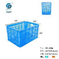 重庆哪里有 PP 蓝色 460-260 塑料周转筐 批发出售