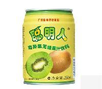广东*商标聪明人奇异果无糖果汁饮料