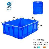 重庆哪里有 PP 蓝色 3号浅盘   塑料周转箱 批发出售