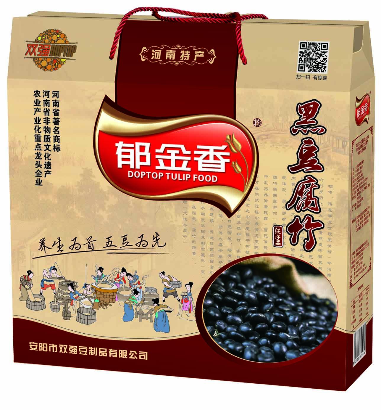 郁金香黑豆腐竹礼品箱159克*8袋  送礼佳品