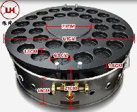 郑州圆形的燃气红豆饼机32孔台湾车轮饼机河南小吃小投资
