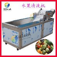 多功能洗菜机 2.3米自动出料果蔬清洗机 洗菜机厂家