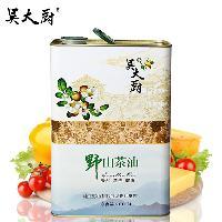 吳大廚 野生山茶油 福利送禮孕婦寶寶3l食用油月子油物理壓榨茶油