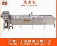 龙虾蒸煮生产流水线设备/漂烫蒸煮流水线