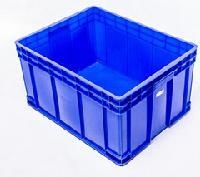 重庆厂家供应 全新料PP 蓝色485-220 塑料周转箱 塑料箱