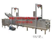 全自动油炸机 油炸生产线 豆泡油炸机
