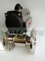 卫生级不锈钢气动AT/RT双作用法兰球阀