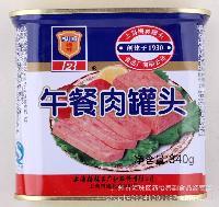 方便食品 早餐吃面包* 涮火锅 正品梅林午餐肉罐头340g