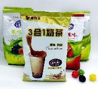 包邮 三和合一奶茶粉果味粉速溶冲饮饮料 果味珍珠奶茶原料1000g