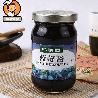 蛋糕卷面包酱 今明后蓝莓果酱果膏340g*12瓶 面包夹心