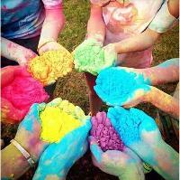 狂欢彩色淀粉 全国包邮 食用彩色淀粉 彩色玉米淀粉 彩跑粉