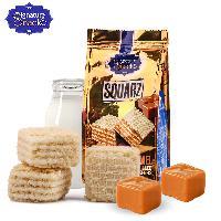新富町威化饼干焦糖牛奶味 阿联酋迪拜进口休闲零食品粒粒状夹心