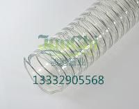 食品级透明软管(螺旋钢丝做骨架耐负压)