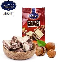 进口威化饼 清真食品 迪拜原装进口新富町威化饼干榛子味