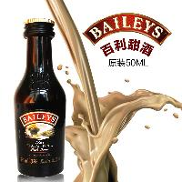 塑料瓶 百利甜酒爱尔兰奶油配制酒 烘焙原料小酒版 原装进口50ML