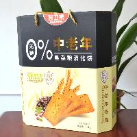 饼干礼盒招商黑杂粮消化饼1.5kg