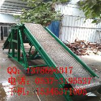 升降挡边带式输送机 爬坡12米长皮带机定制