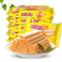 印尼进口食品丽芝士纳宝帝奶酪味威化饼干58g休闲食品零食批发