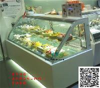 新款矮弧形蛋糕柜,慕斯西点冷藏柜,弧形后开门西点柜