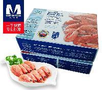 oci 9月新货原装进口北极甜虾冷冻冰虾 头腹籽120150微商海鲜批发