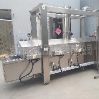 优品豆腐干油炸机 炸豆皮机器 干豆腐油炸设备