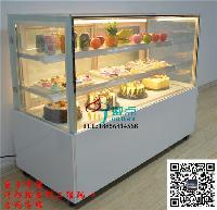 1.5米直角蛋糕柜台,钢化玻璃蛋糕冷藏柜,定做慕斯西点展示柜