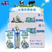欧亚 高钙牛奶 250g*24盒/箱 全脂牛奶