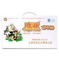 欧亚 甜牛奶 250g*24盒/箱 全脂牛奶