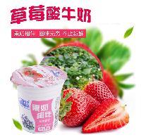 欧亚草莓酸奶_绿色健康奶饮