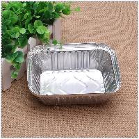 150锡纸方盒焗饭外卖打包盒 烧烤金针菇快餐铝箔餐盒
