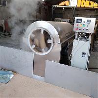 诸城宏诺供应HNKJ100电磁加热过水芝麻炒货机